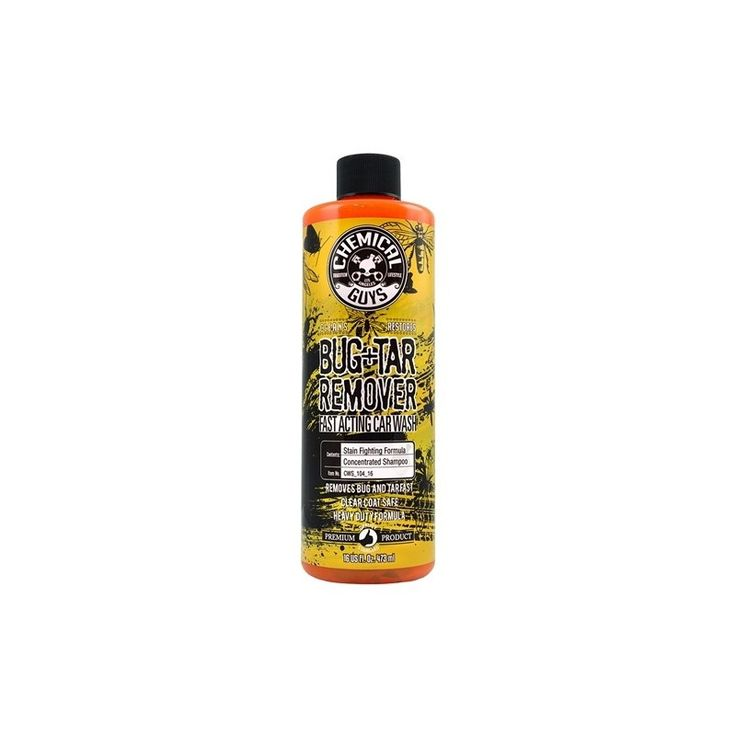 Chemical Guys Bug +Tar Wash (Bug Bugger) est un shampoing dégraissant très efficace qui élimine les traces d'insectes présentes sur la carrosserie.#chemical #chemicalguys #gnproducts #cars