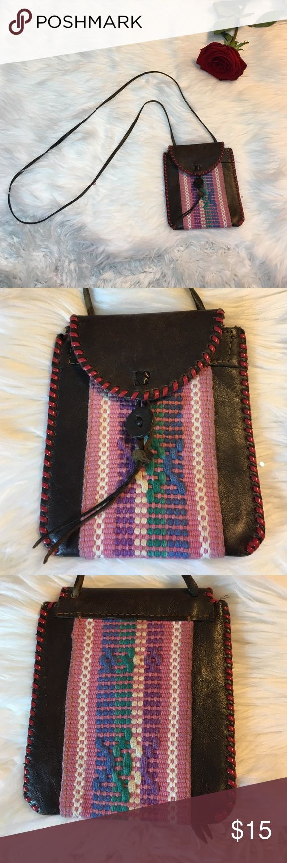 Vintage Leather Bohemian Festival Cross Body Bag -Good condition! Handmade with real leather  -Pre loved item -I do not accept offers in the comments so please make all reasonable offers using the offer button only. :) -NO TRADES  -NO HOLDS 🚫 -I ship every Monday, Wednesday and Friday  -All items are hand washed before they are shipped out   💕Instagram- allisonsbeautyboutique 💕 Your purchase is going to help me graduate community college with as little debt as possible. Thank you! Vintage…