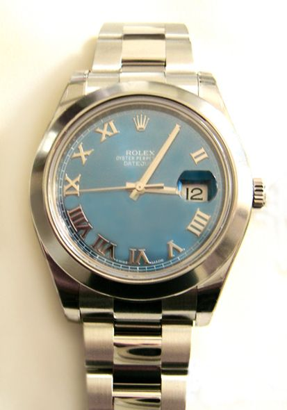#Rolex #Datejust 116300 Blue Roman Dial #swisswatchdealers - A modern take on the classic Datejust