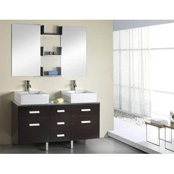 Digital Art Gallery Virtu USA Maybell Espresso Double Bathroom Vanity Set Your bathroom makeover just got easier Do it all in one simple step with the Virtu Maybell Double