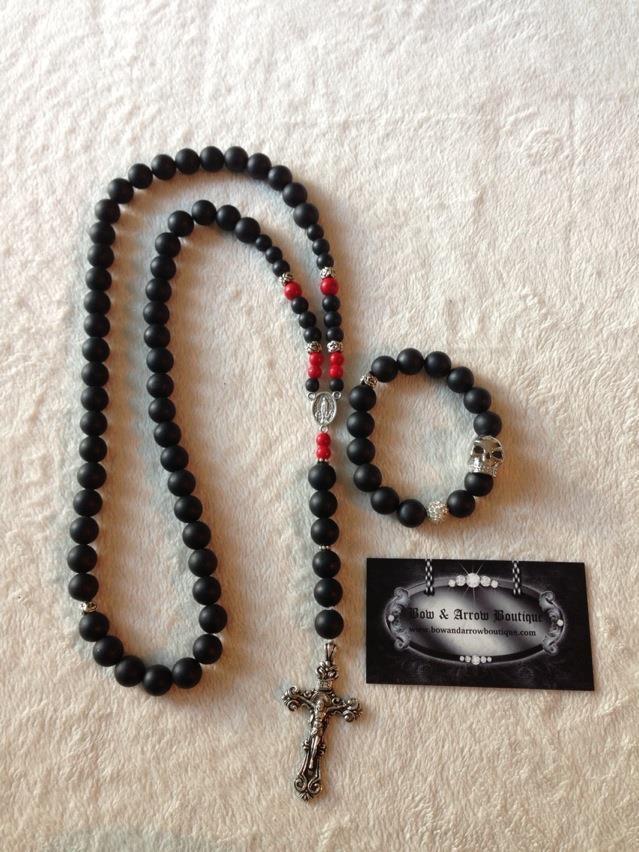 $200 for matching set Mens Rosary & Bracelet