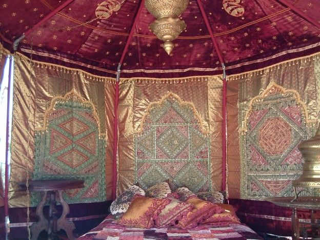 The Mughal Kings and Indian Royalty used to live a splendid life, with low floor seating, heavy embroidery cushions, bolsters, Hookah and Moroccan lighting