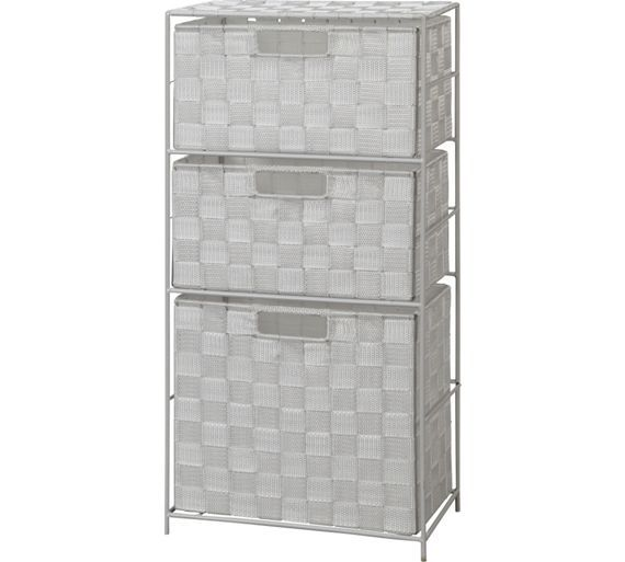 Buy HOME Wide 3 Drawer Bathroom Storage Unit at Argos.co.uk, visit Argos.co.uk to shop online for Bathroom shelves and storage units, Bathroom furniture, Home and garden