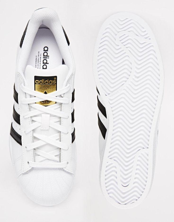 adidas Originals Superstar White & Black Trainers