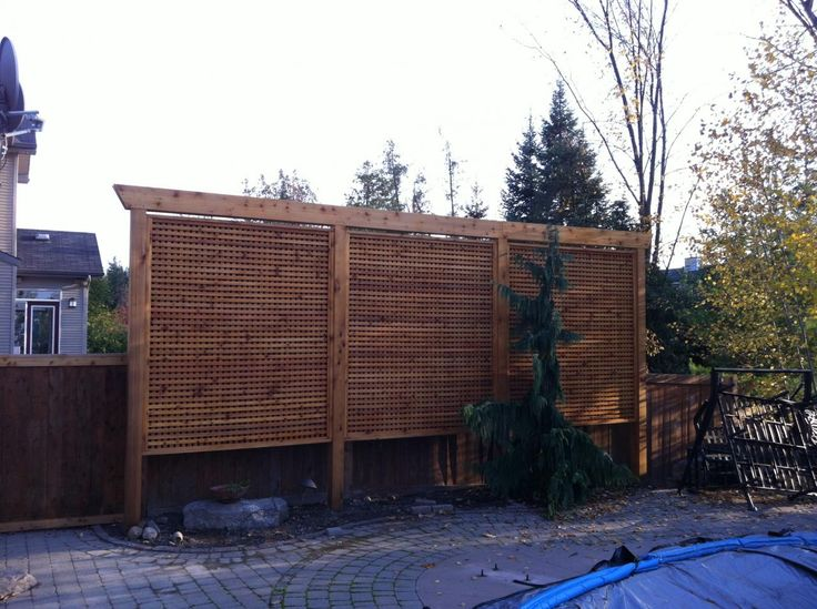 Pergola Style Privacy Screen Fence Design Backyard