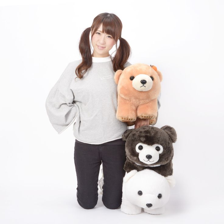 """Enjoy whopping bear hugs (with none of the dangerous teeth and claws!) with the ursine cuties of the Marukuma Polar World Bear Plush Collection (Big)!  You can choose from Polar the polar bear, Mofu Mofu the fabulously fluffy sloth bear, or Yamabiko-chan the Hokkaido bear, who happens to be wearing an adorable acorn accessory! Each of these bears measures 12.6"""" x 11.8"""" x 15.7"""" and i... #tokyootakumode #plushie"""