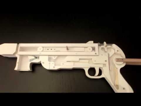 MP40 Rubberband Gun insight view - YouTube