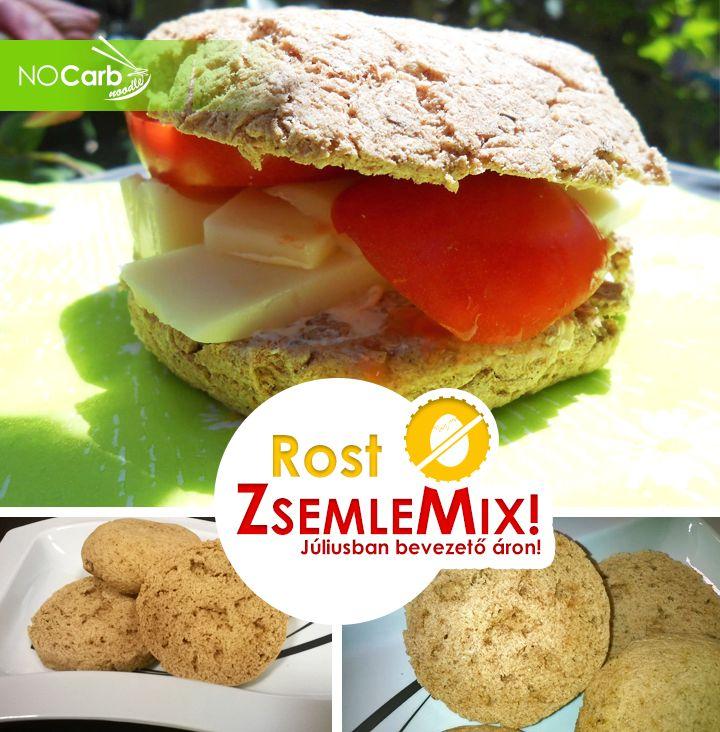 Új termék! Tojásmentes zsemlék, kiflik elkészítéséhez! NoCarb Rost ZsemleMix! Júliusban bevezető áron!   Klikk a képre a részletekért!