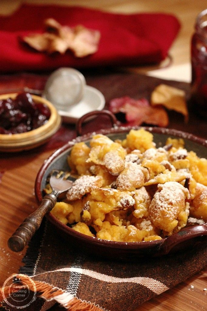 Kaiserschmarrn | Emperor's Pancakes Find ingredients for this recipe and other Austrian Food at http://www.allaboutcuisines.com/online-shops/austria #Austrian Food #Austrian Recipes #Desserts