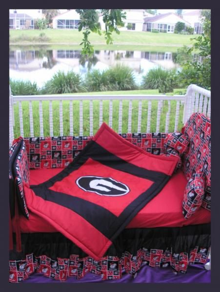Georgia bulldogs baby bedding georgia bulldogs nursery for Georgia bulldog bedroom ideas