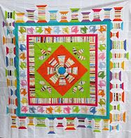 Selvage Blog: Cozy Quilter's Liberated Medallion Quilt