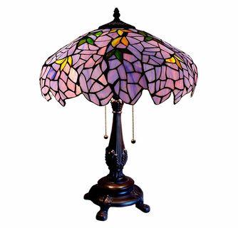 Lilac Wisteria Tiffany Table Lamp