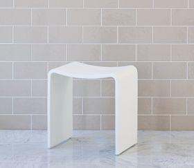 balineum. White stool for bathroom