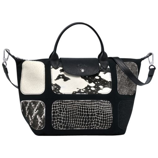 Handbag - Le Pliage Patch Exotic - Bags - Longchamp - Black ...