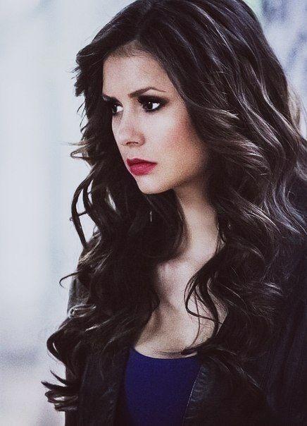 Nina dobrev naturally curly hair
