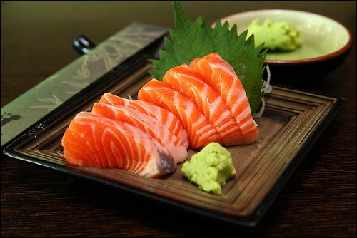 Salmon Sashimi, im so in love with this