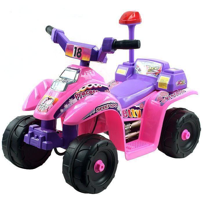 EZ Riders 4 Wheeler Battery Operated Mini ATV - Pink/Purple
