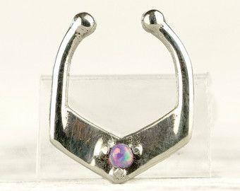 Opal tabique anillo nariz anillo cuerpo joyería por RebelOcean