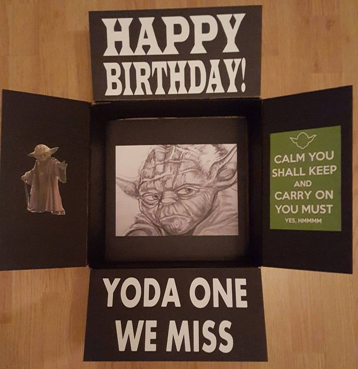 Star Wars Yoda Military care package decorated box