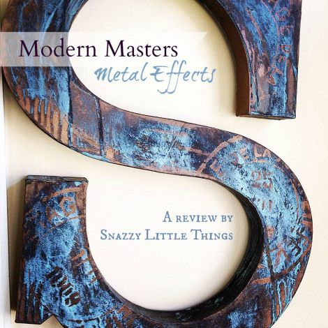 Modern Masters Metal Effects How-to | Snazzy Little Things