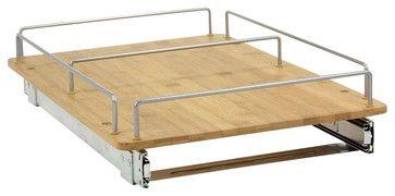 Bamboo Sliding Organizer - modern - Pantry And Cabinet Organizers - MoreStorage Inc