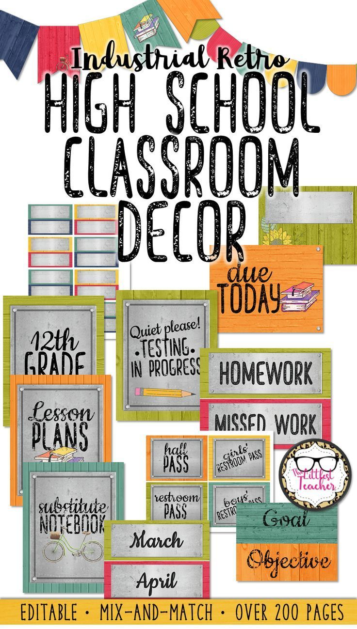 middle or high school classroom decor | high school english lessons