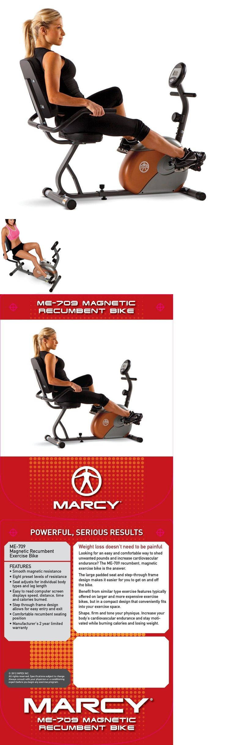 Exercise Bikes 58102: Recumbent Exercise Bike Fitness Stationary Bicycle Cardio Workout Indoor Cycling BUY IT NOW ONLY: $135.0