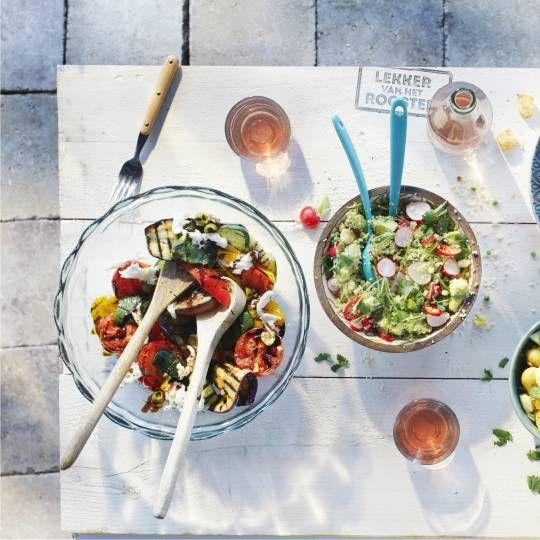 Boodschappen - Geroosterde groenten met balsamicodressing