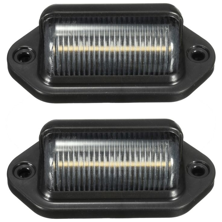 5.02$  Buy here - http://alielj.shopchina.info/go.php?t=32773355901 - 2Pcs 10-30V 6LEDs License Plate Light Lamp Bulbs Number Plate Light For Motorcycle Boats Aircraft Automotive Trailer RV Truck  #aliexpresschina