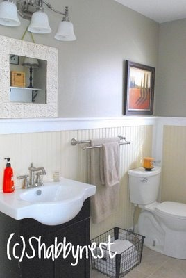 cute bathroom: Laundry Idea, Big Bathroom, Half Bath, Cottages Chic, Bathroom Idea, Color Combinations, Master Bath, Basements Bathroom, Shabby Nests