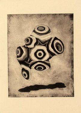 "Saatchi Art Artist Gavin Porter; Printmaking, ""Umu"" #art"