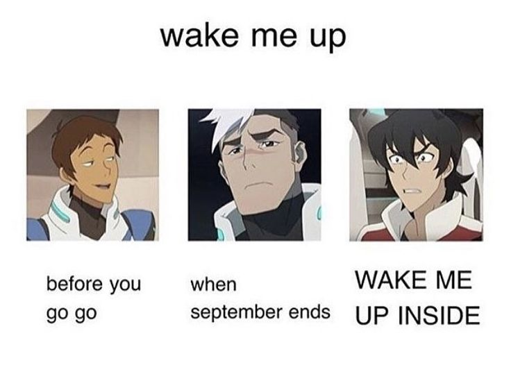 WAKE ME UP! WAKE ME UP INSIDE!! This why I barely have any friends<< WaaAAAKE ME UpPPpp whEn sEPTEMBER ENDSsss
