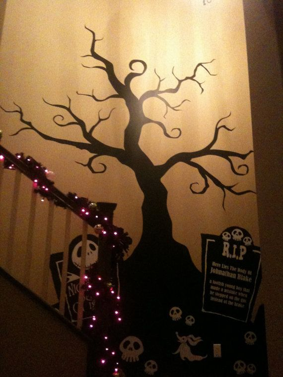 Halloween Creepy Tree Wall Decal Nightmare Before By
