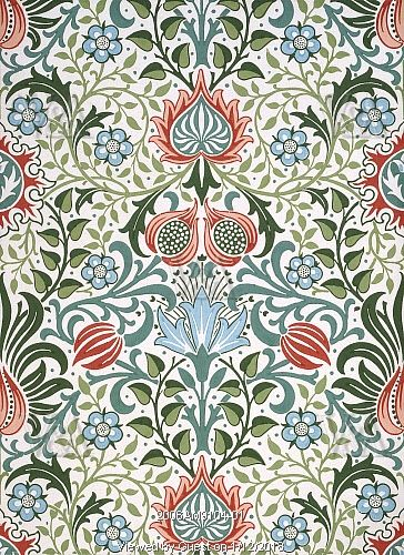 Persian wallpaper, by William Morris. England, 19th century