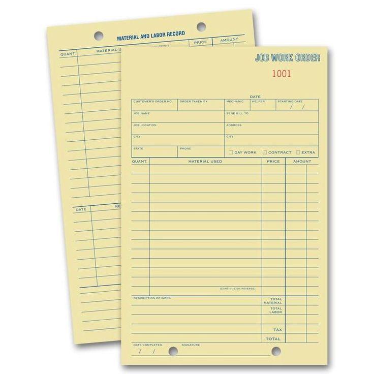 29 best Work Order Forms images on Pinterest