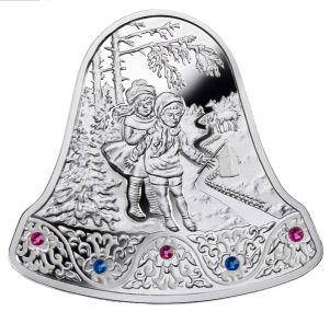 """Серебряная монета """"Рождественский колокольчик"""" – достойный подарок к Новому Году и Рождеству!"""