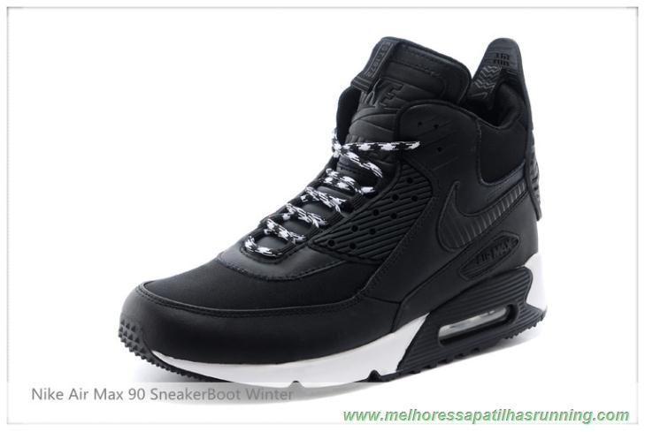 comprar tenis online Preto/Branco Nike Air Max 90 SneakerBoot Winter