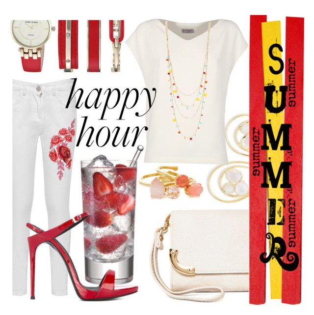 """""""Summer Happy Hours"""" by lullulu on Polyvore featuring Ippolita, Alberto Biani, MKF Collection, INC International Concepts, WearAll, Anne Klein, Giuseppe Zanotti and Kate Spade"""
