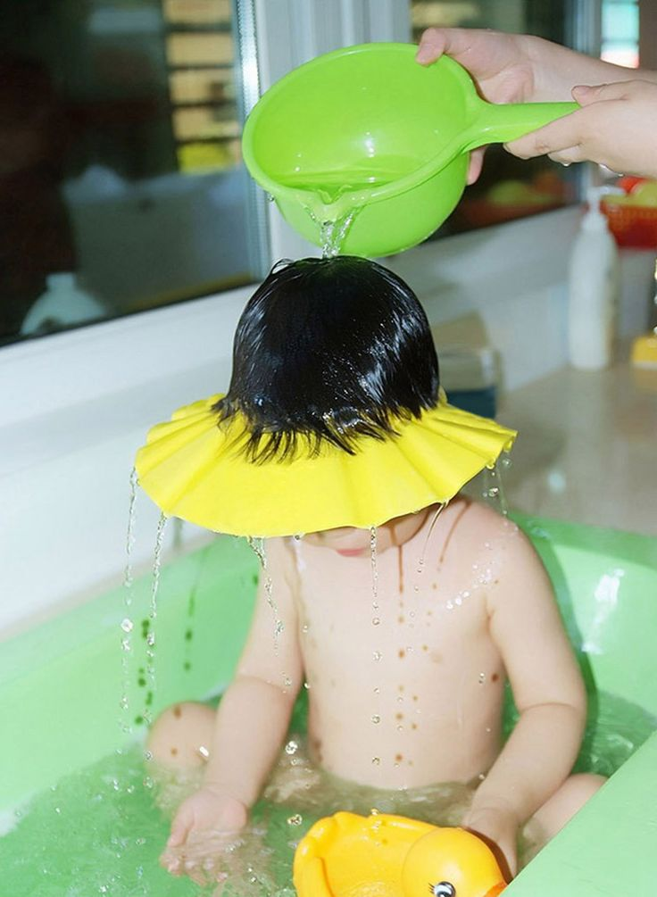 Keep water out of your baby's eyes and ears while washing hair, No more tears!  Make washing hair easier for mom, and a lot more relaxed and fun for baby  Flexible and soft-made from EVA foam  Durable, safe and easy to use, comes with adjustable clips so you can size accordingly  Keep baby's from crying and keep shampoo out of their eyes and ears