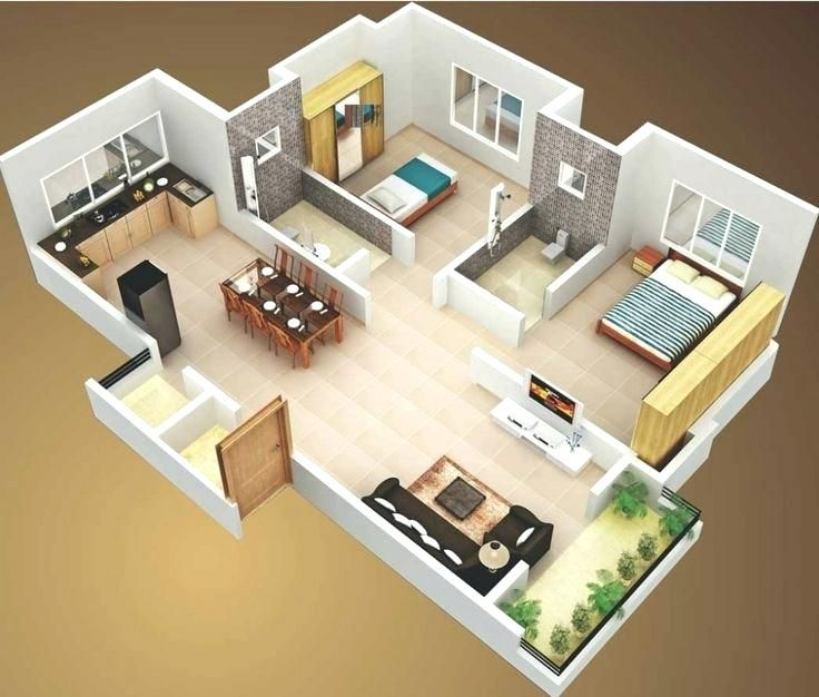 Small 2 Bedroom House Plans The Best 2 Bedroom House Plans Ideas On 2 Bedroom House Plans Wi Small Modern House Plans 2 Bedroom House Design Small House Design