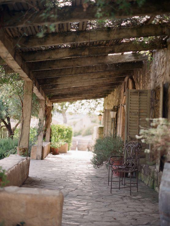 Rustic Italian style veranda.....