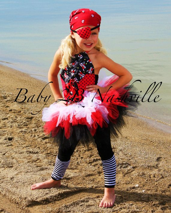 <3 <3 - Girls Pirate Costume Tutu