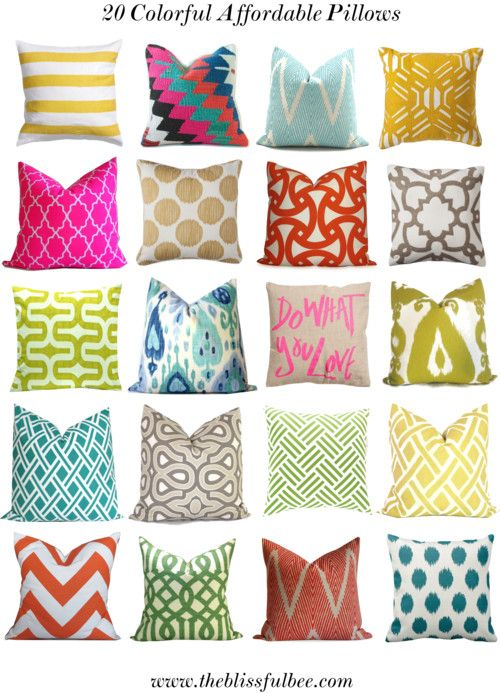My top 20 {affordable} colorful pillows for Spring