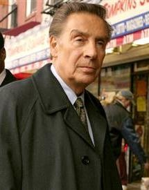"Jerry Orbach as Det. Lennie Briscoe on Law & Order - one of my favorite Detectives. Also known as ""the old guy from Law & Order"" in promos for a TV airing of ""Dirty Dancing"""