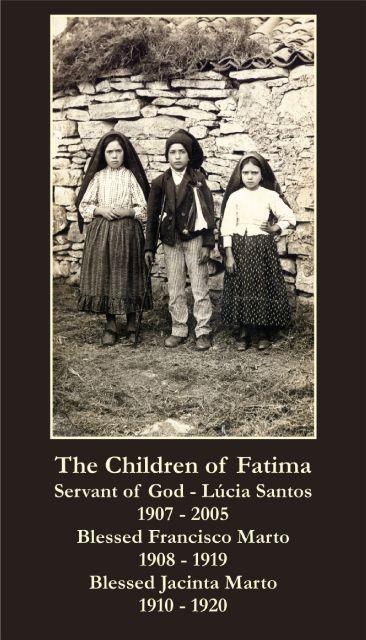 fatima prayer   Fatima Children Prayer Card