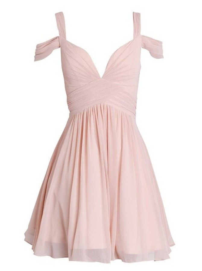 Elegant A-line Sweetheart Ruched Short Chiffon Bridesmaid Dress