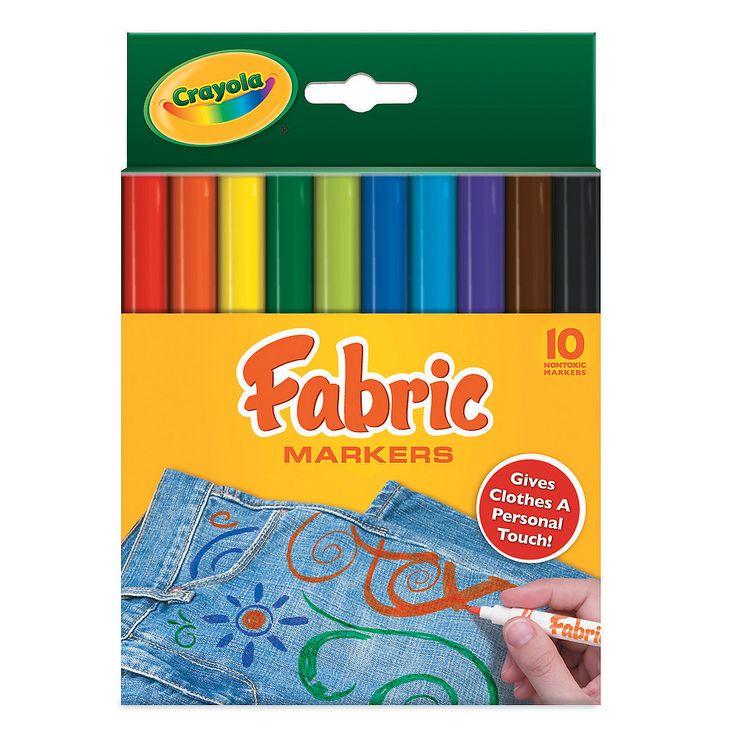 Crayola® Fabric Markers - OrientalTrading.com