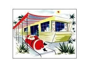 VintageTrailer Park Art Retro Mobile Home RV Christmas Cards Campy Humor