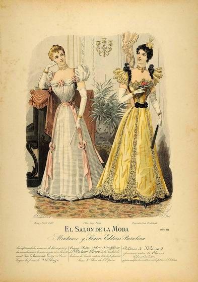 Дневные платья с широкими рукавами «баранья нога», напоминающие платья эпохи бидермейер, были в моде примерно с 1892 по 1898 год. Потому рукав снова стал узким. Наибольшей ширины рукав достиг в 1895-96 годах.