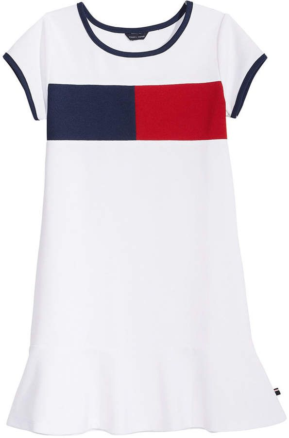 07629a2f17ca Tommy Hilfiger Logo Pique Dress, Big Girls in 2019 | Products ...